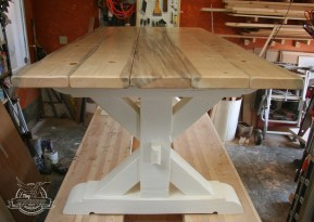 x dining table white base 2