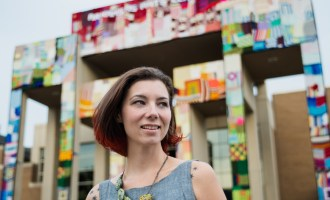 Yarn Bombs, Love, and Affection at the Arkansas Arts Center