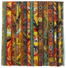 Reni Gower, Fragments: Entwined 2013; mixed media, 63 by 62 inches.