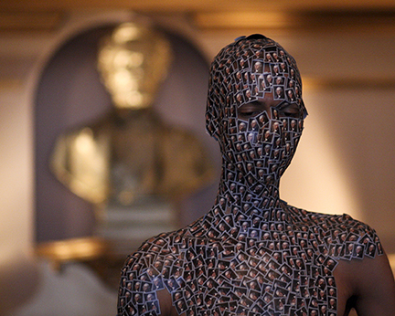 Wilmer Wilson IV,  Henry 'Box' Brown: FOREVER (Part Two, Looming Bust), 2012; archival pigment print. (Courtesy of artist and CONNERSMITH.)