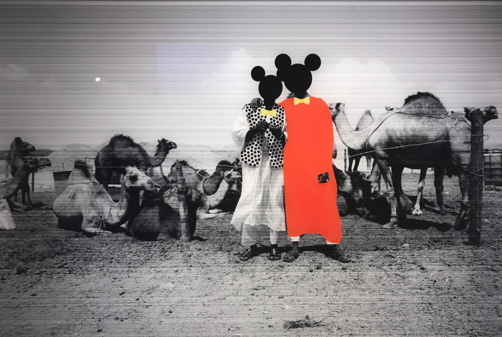 Huda Beydoun's photographs Tagged and Undocumented 4 and 5 (2013)