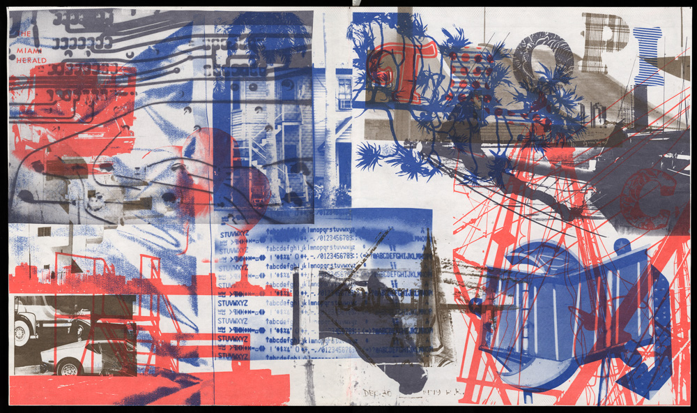 Robert Rauschenberg, Cover for magazine of the Miami Herald, December 30, 1979