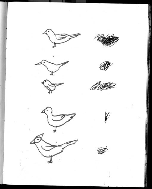 sketchbook David Onri Anderson 7. birds