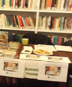 burnedthumb at the SPL pamphlet fair