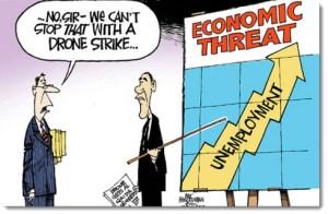 obama-economy-jobs-debt-deficit-political-cartoon-drone-strike-unemployment
