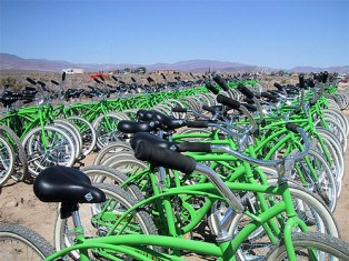 Yellow Bikes are green! Photo by Danger Ranger