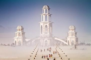 The IAM's Temple of Transition, Burning Man 2011 -- Photo: Scott London