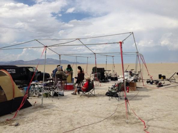 fierce winds destroyed their tarps, but the bar's open!