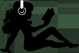 rockstar librarian silhouette