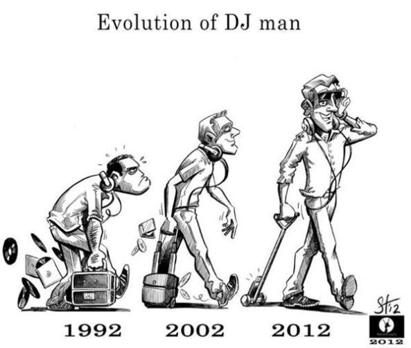 evolution of a dj