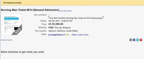 5000 ticket
