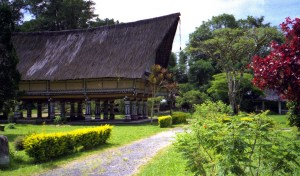 the tribal Long House was the inspiration for the Temple of Descendants