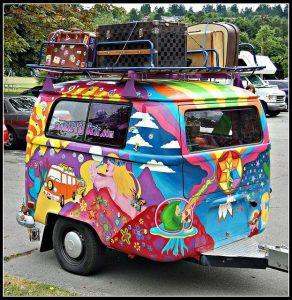 cartoon camper caravan