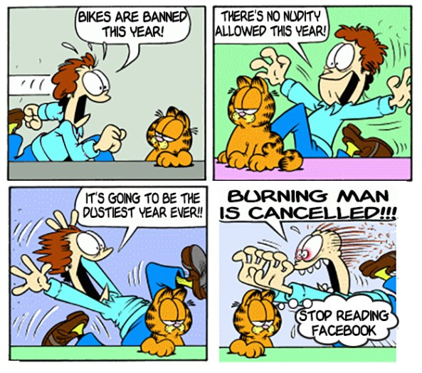garfield burning man