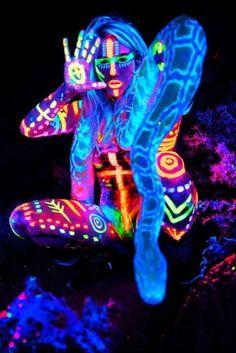 body paint glow