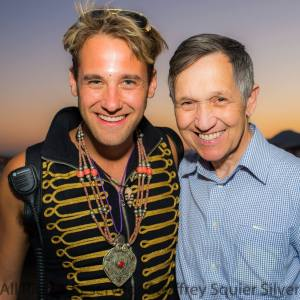 Burning Man Social Alchemist Bear Kittay, L; Burner Dennis Kucinich, R
