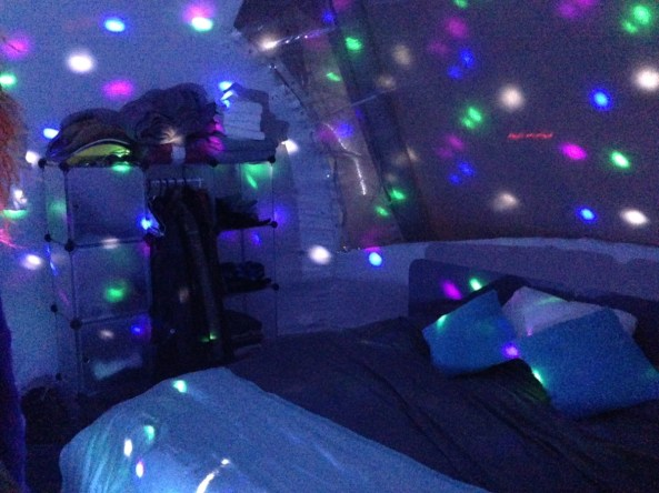 Inside the inflatable party pad. Photo: Nellie Bowles