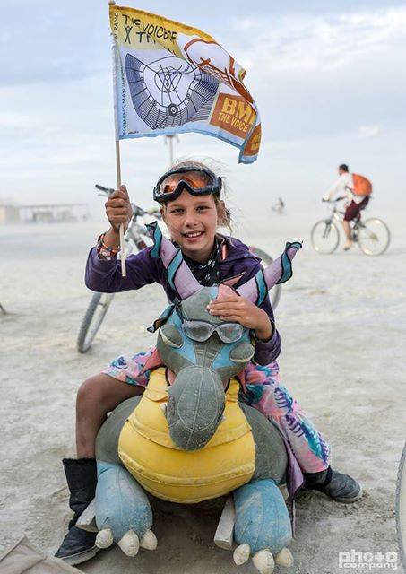Kasia at Burning Man