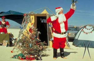 Christmas Camp, 1993. Photo by Gerry Gropp. From galleries.burningman.org.