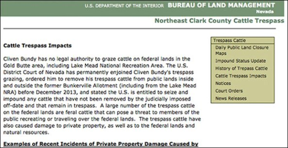 bundy cattle trespass solar