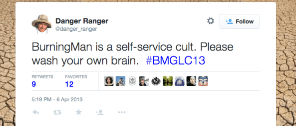 danger ranger tweet self service cult wash your own brain