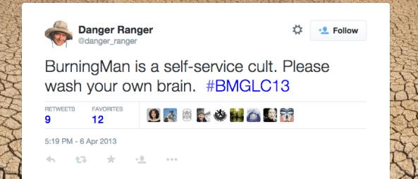 danger ranger tweet self service cult wash your own brain