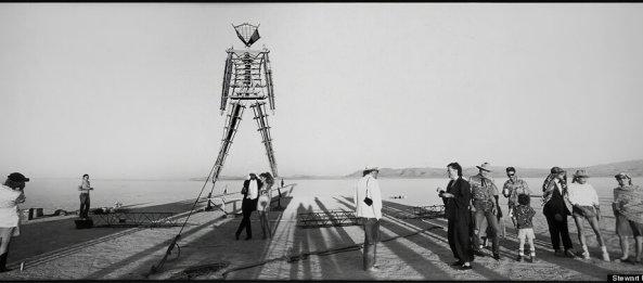 Burning Man 1990. Image credit: Stewart Harvey