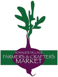 The Voyager Village Farmer's & Crafter's Market logo (a purple turnip)