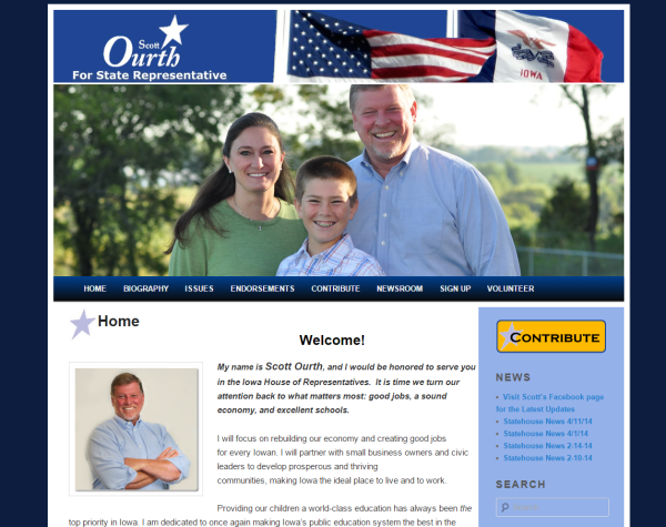 Ourth For House - Des Moines Iowa WordPress web design