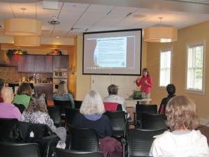 Carolyn teaches a class at LivingWell Cancer Resource Center