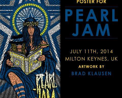 Pearl Jam: Milton Keynes Bowl 2014 official poster