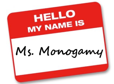 The name tag Miss Alone was wearing when we interviewed her.