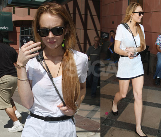 Lindsay Lohan, always in need of a publicist.