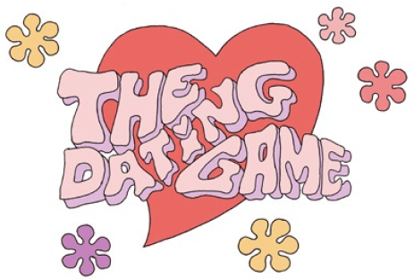 Original logo for The Dating Game, to be rebranded with labia instead of heart for Kings County's purposes