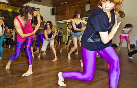 Some of the more fashionable yogis at Body Actualized
