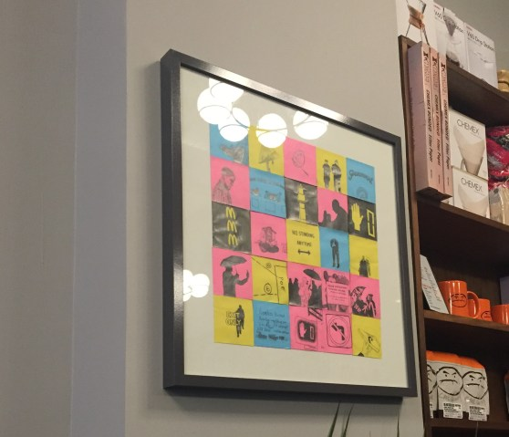 Framed Post-It art