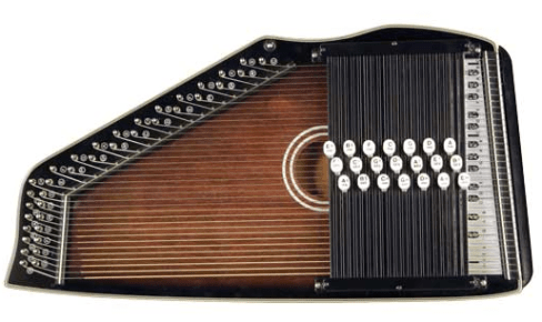 One of the thousands of chorded zithers Instrumentalmann has up for sale