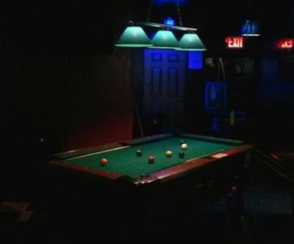 The pool table that incited the incident