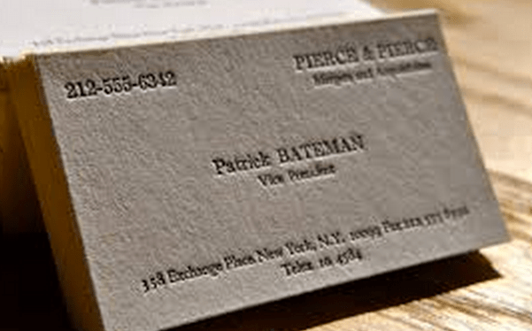 In honor of patrick bateman bushwick printer offers business cards patrick bateman would be proud of bushwick colourmoves