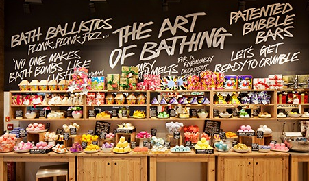 Lush is known for its handmade products