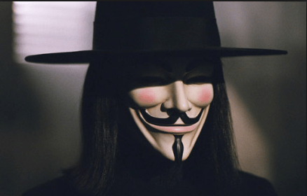 Popularized by V for Vendetta