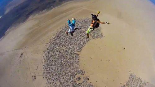 Skydive Burning Man