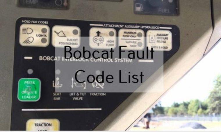 The Most Important Bobcat Fault Code List