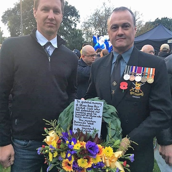Anzac Service 2017, Scott Inglis and Jeff Roy