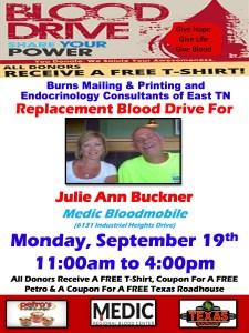 Burns Mailing & Printing Flyer- Julie Buckner