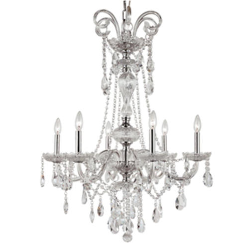 crystal chandelier 6 light burns