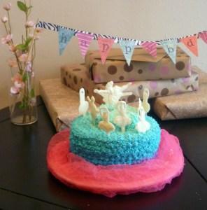White Chocolate Ballerina Cake