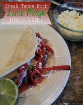 Steak Tacos with Lime Mayo Dressing