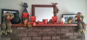 Fall Decorating: Fireplace Mantle