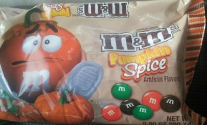pumpkin spice M&M